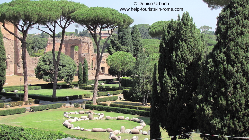 caracalla thermen rom helptourists in rome. Black Bedroom Furniture Sets. Home Design Ideas