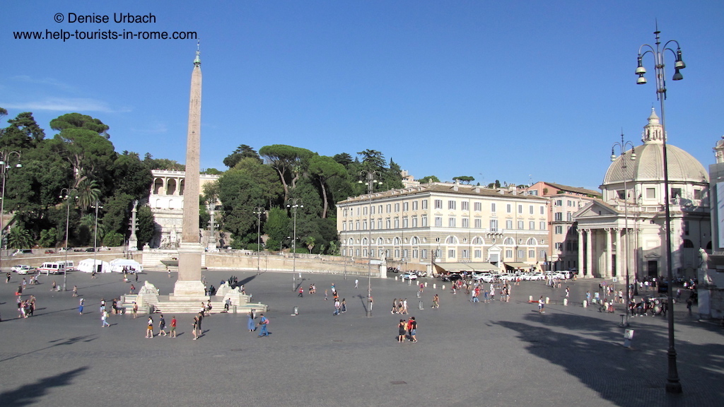 piazza del popolo in rom helptourists in rome. Black Bedroom Furniture Sets. Home Design Ideas