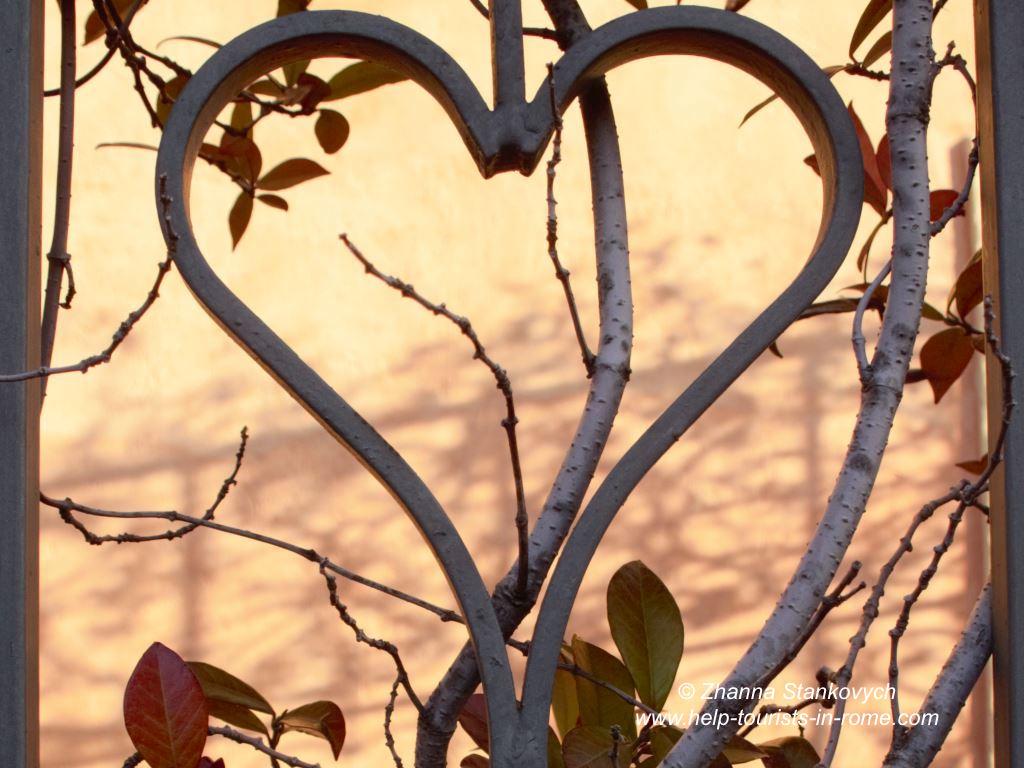 Herz Valentinstag in Rom