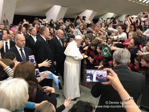 Ankunft des Papstes