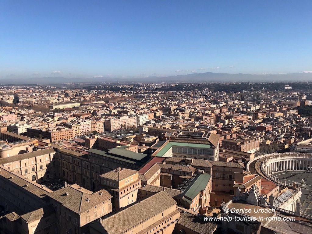 Ausblick Kuppel Petersdom Rom