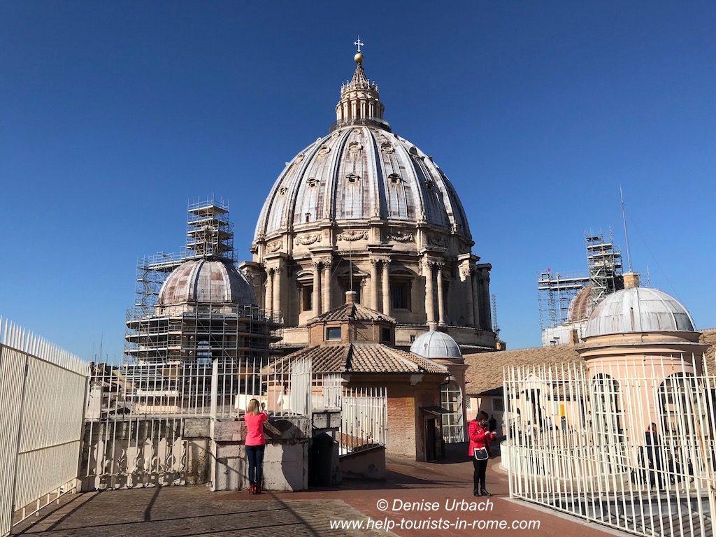 Besuch der Kuppel des Petersdom