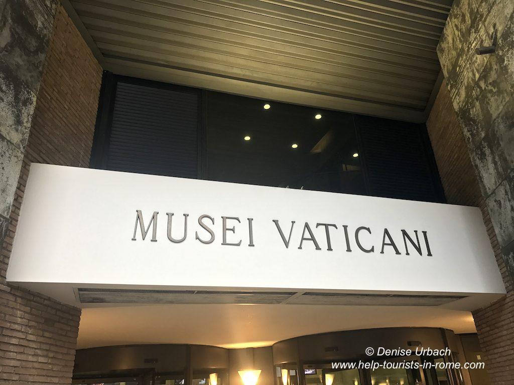 Eingang Vatikanische Museen Rom