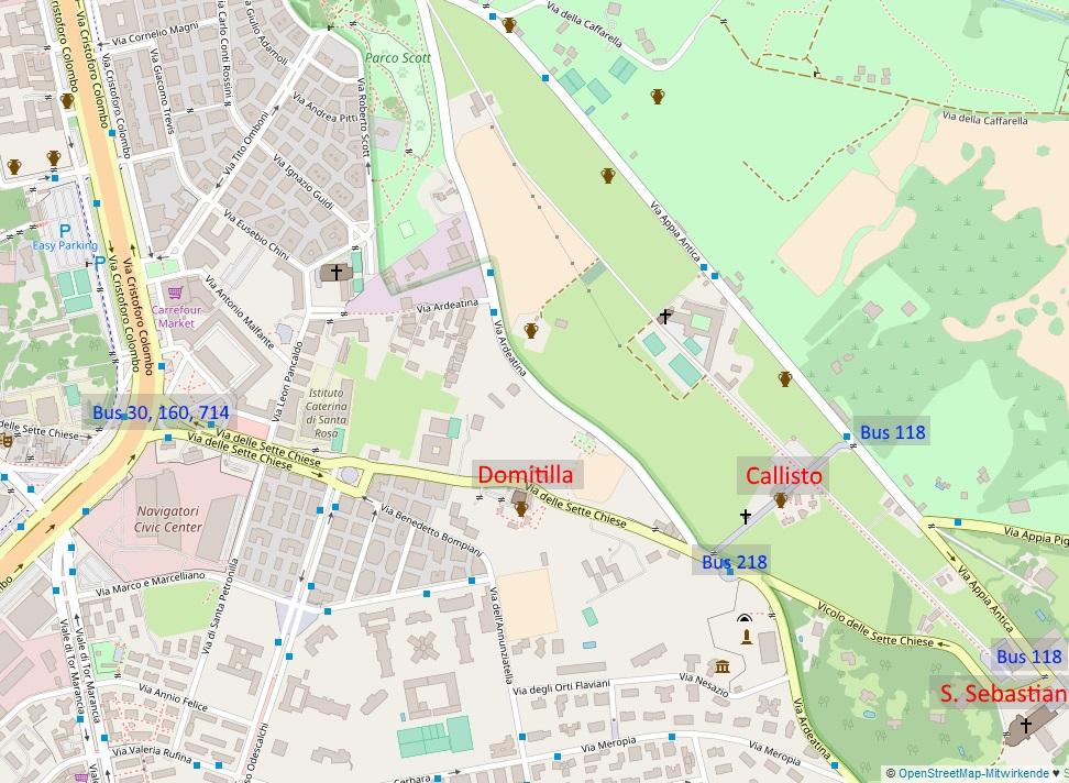 Karte Katakomben Appia