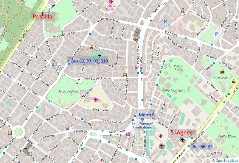 Karte Katakomben Rom Nord
