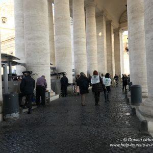 Sicherheitskontrollen Vatikan Rom