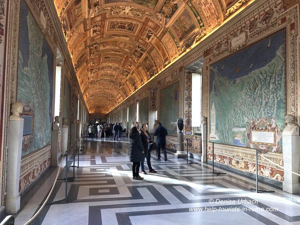 Vatikanische Museen schöne Galerie