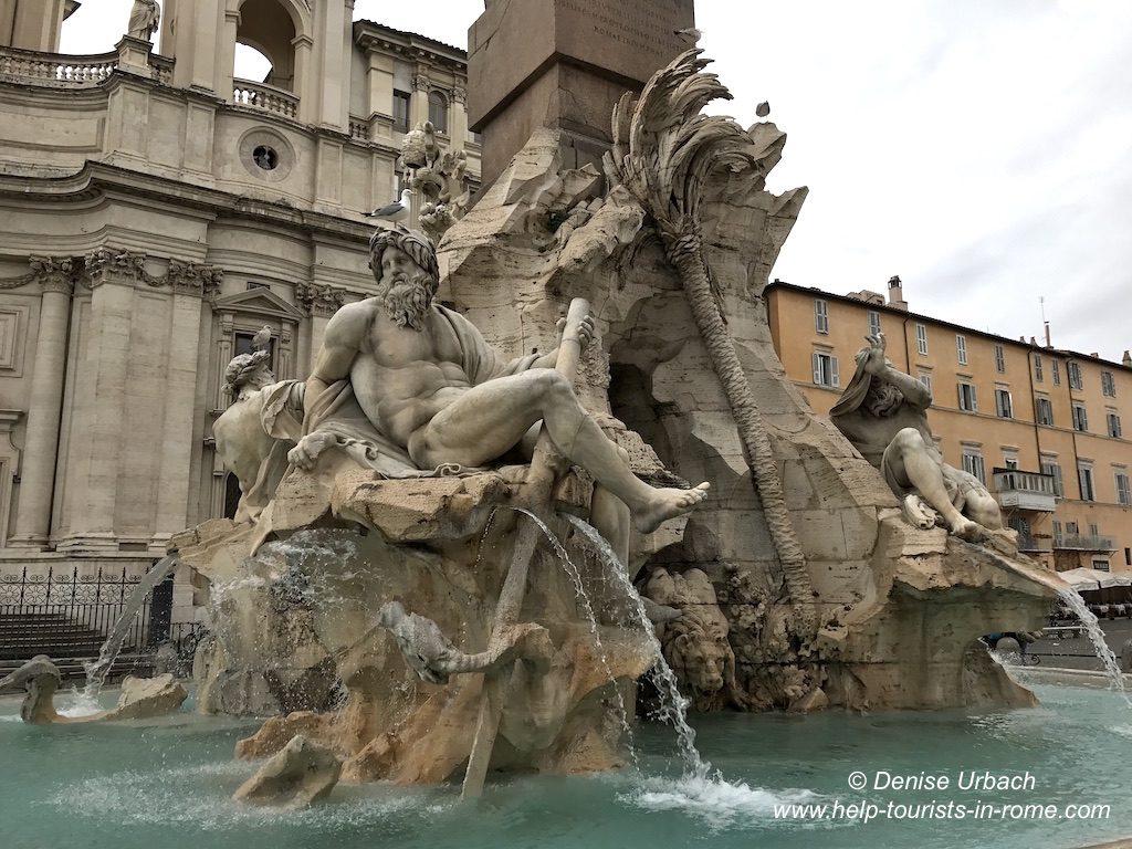Vier Ströme Brunnen Rom