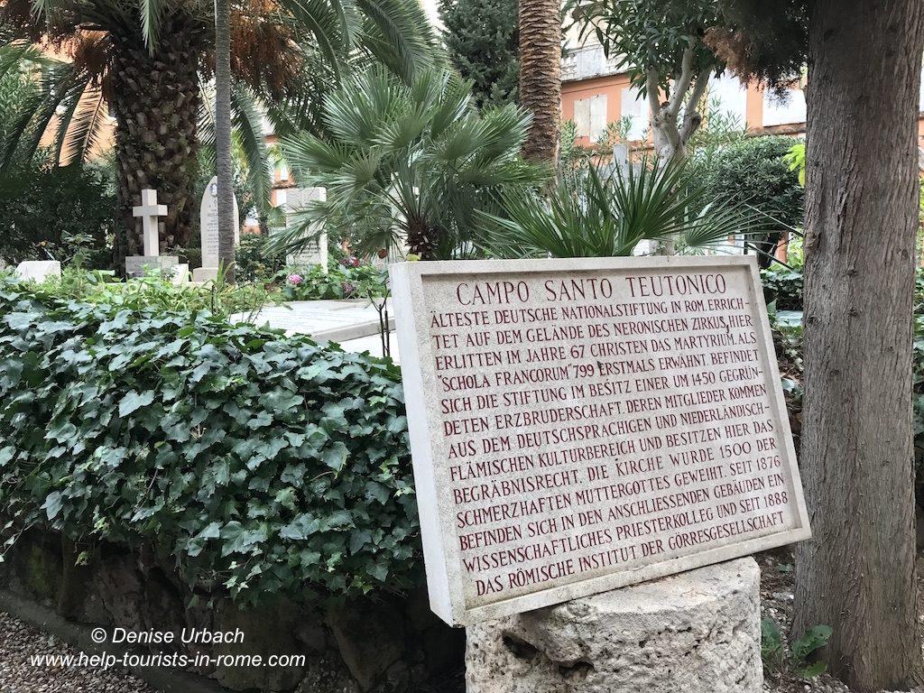 Campo Santo Teutonico in Rome