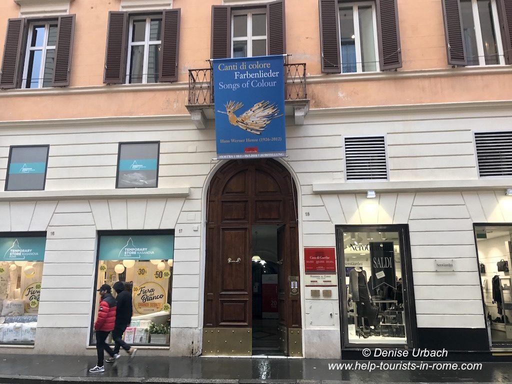 Fassade und Lage Goethe Haus Rom