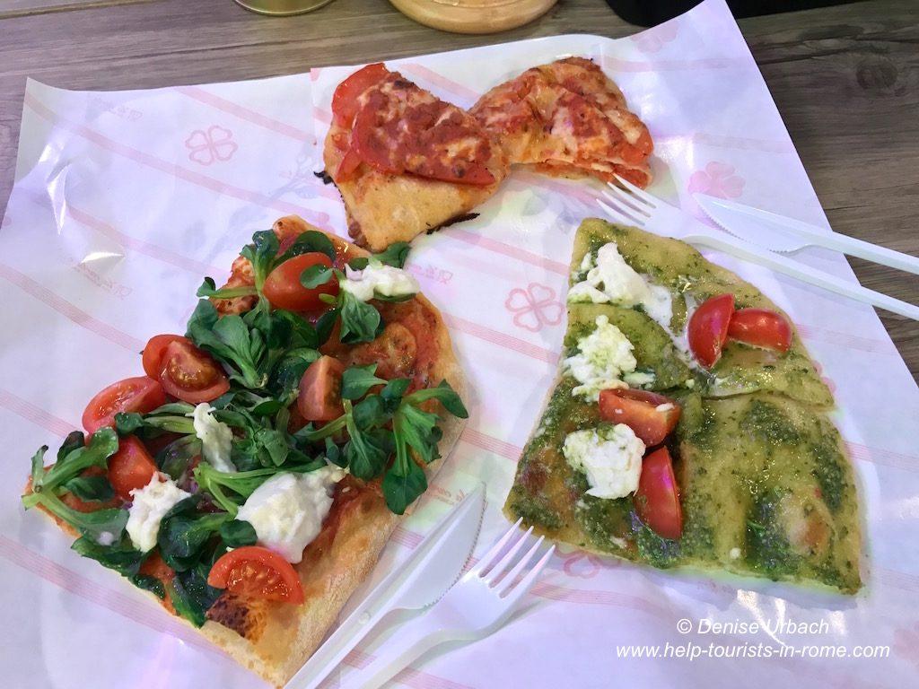 Pizza essen in Rom