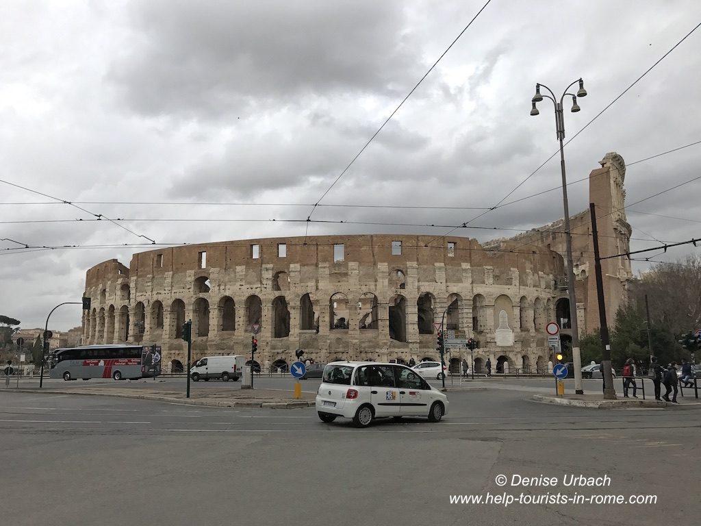Taxi fahren in Rom
