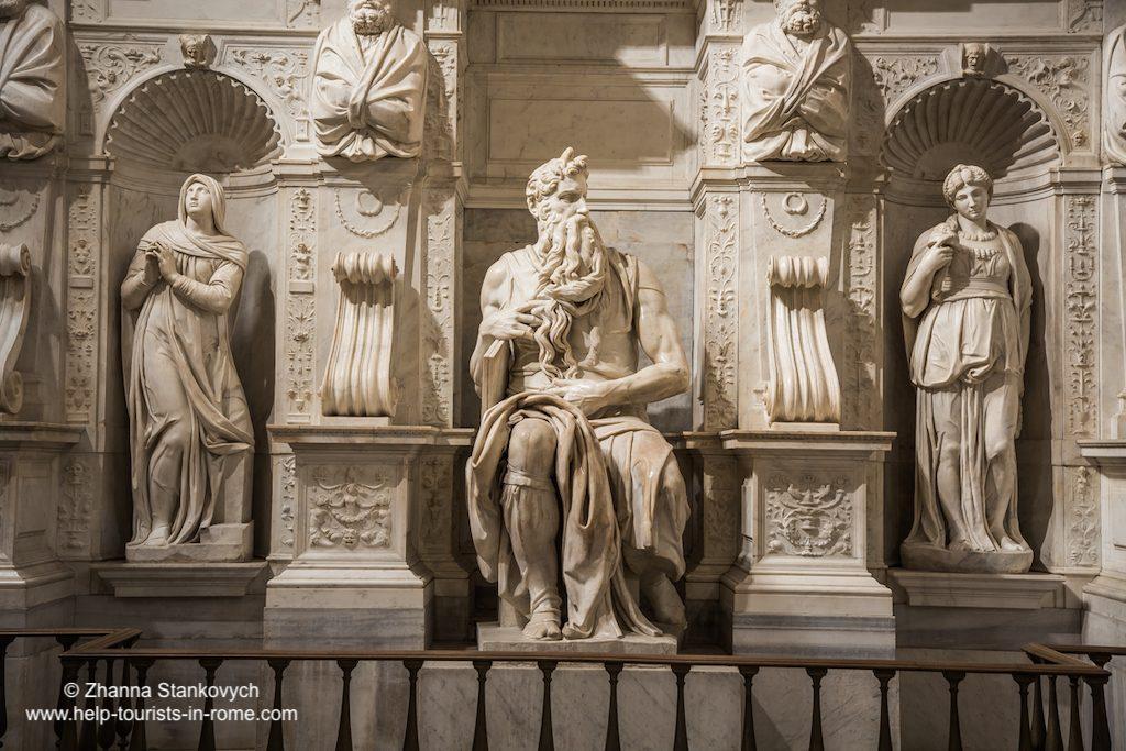Moses von Michelangelo Rom
