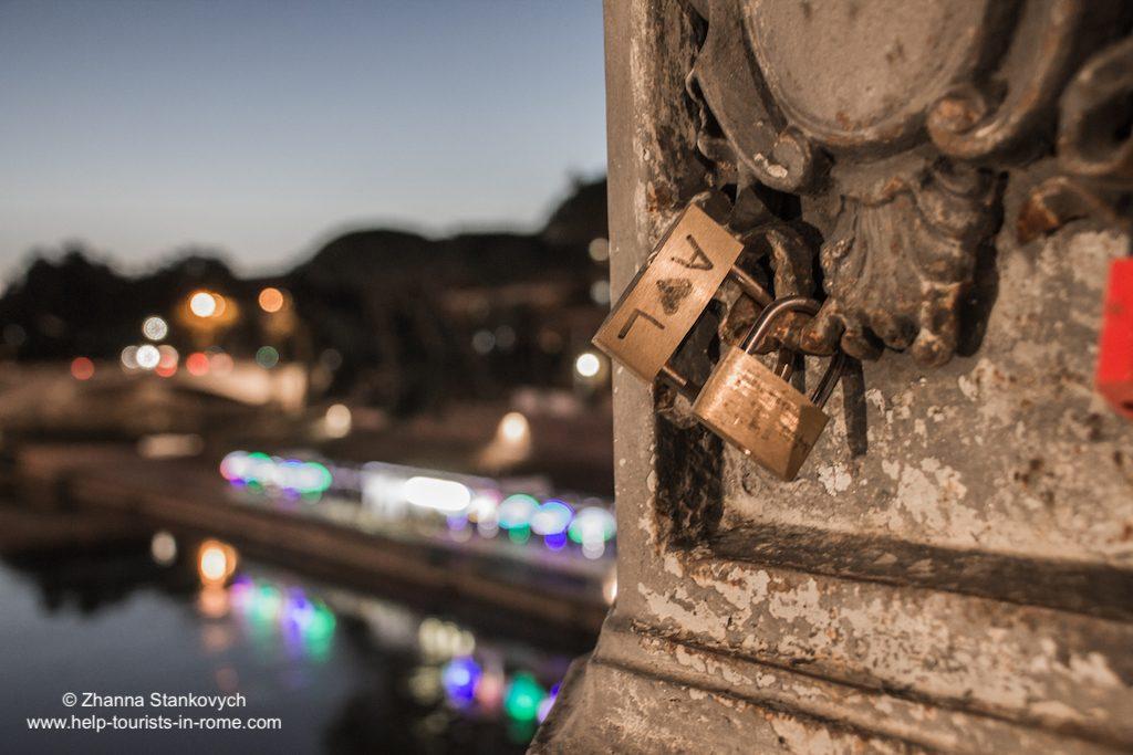 Schlösser bei Ponte Cestio Rom