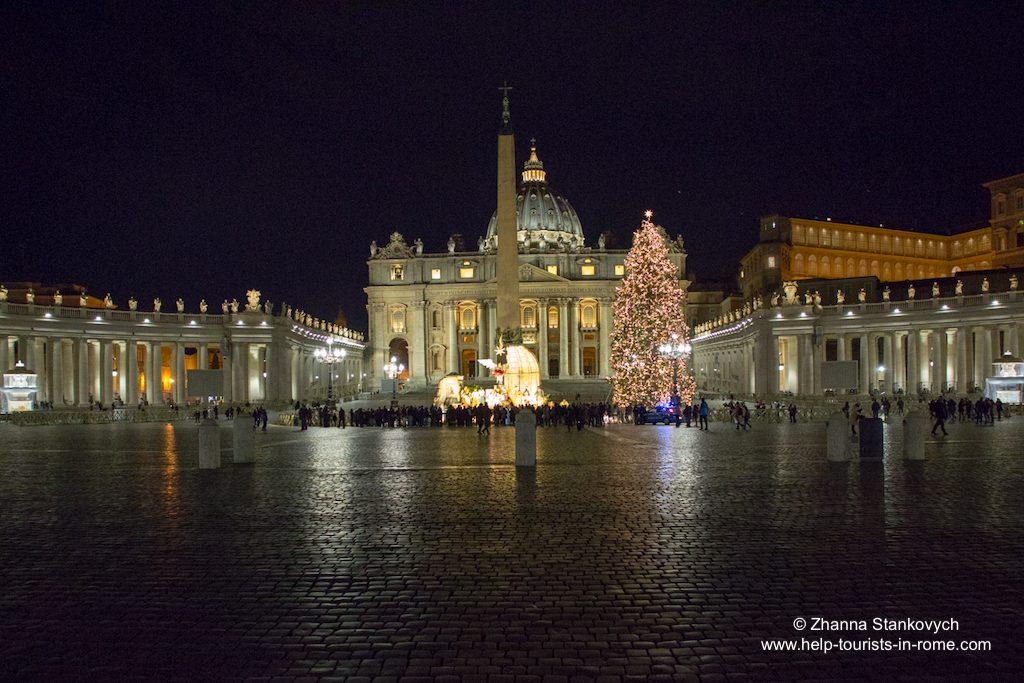 Weihnachten Petersdom Rom