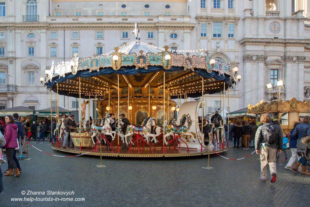 Piazza Navona Weihnachten Karussell