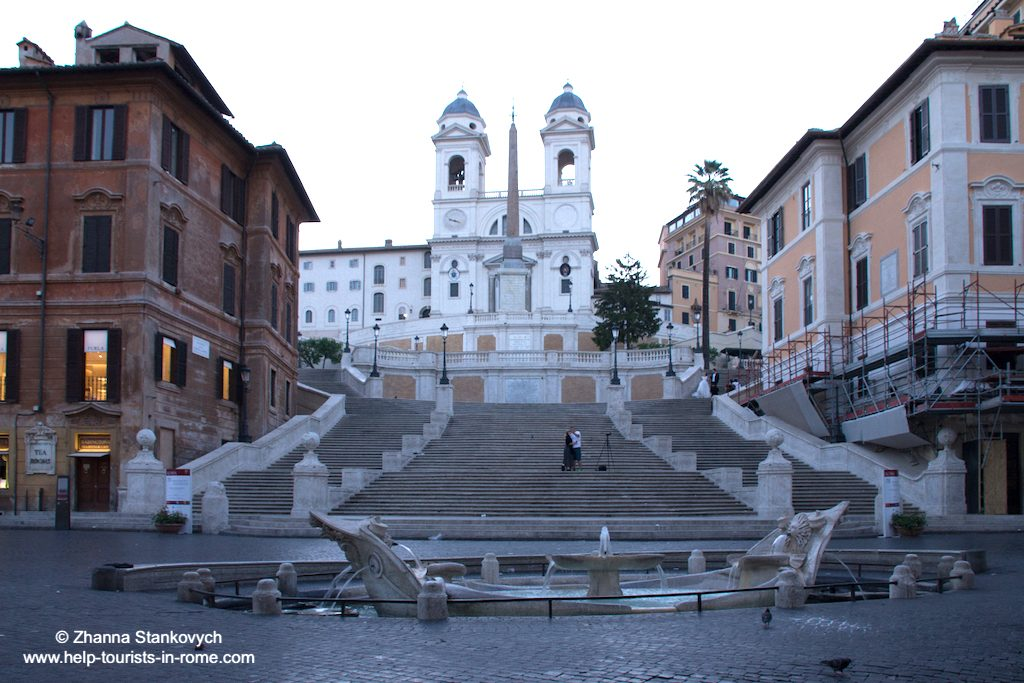 Spanish Steps Rome in the morning