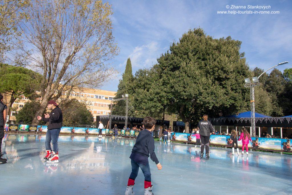 Auditorium ice rink Rome