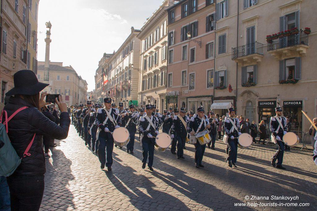 Parade Marian Column Rome December 8