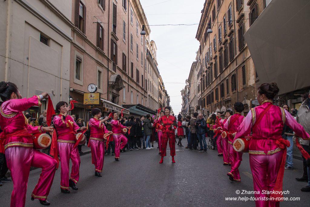 Chinesisches Neujahr Rom Parade