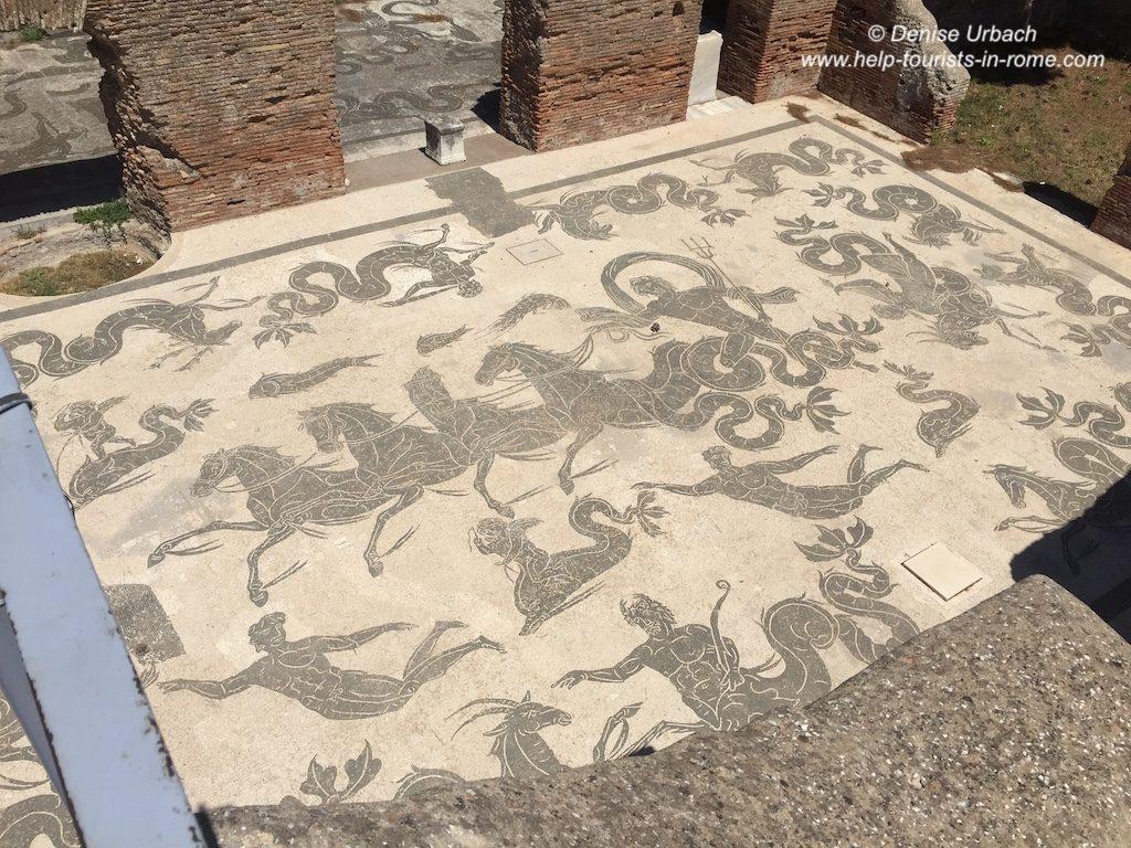 Mosaike Ostia Antica Rom