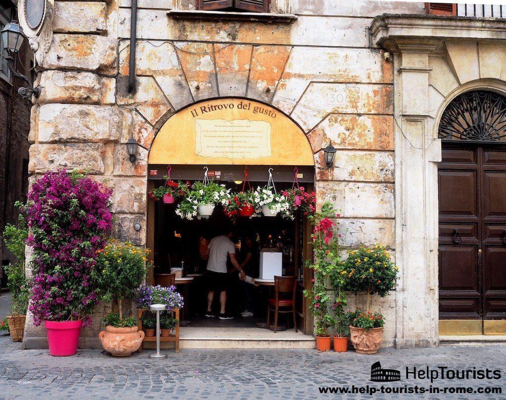 Rome restaurant in spring