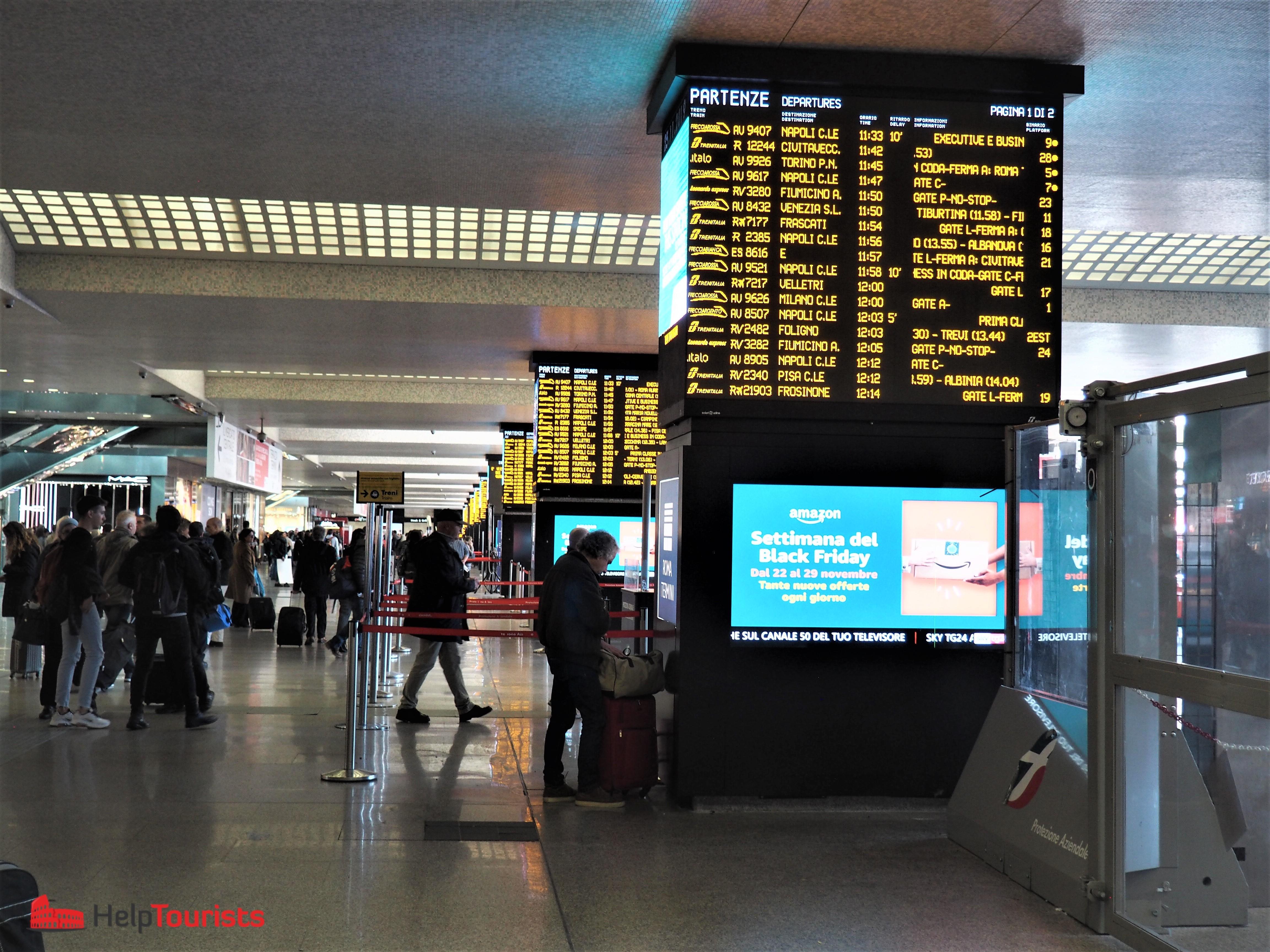 Rom Hauptbahnhof Termini Eingangshalle