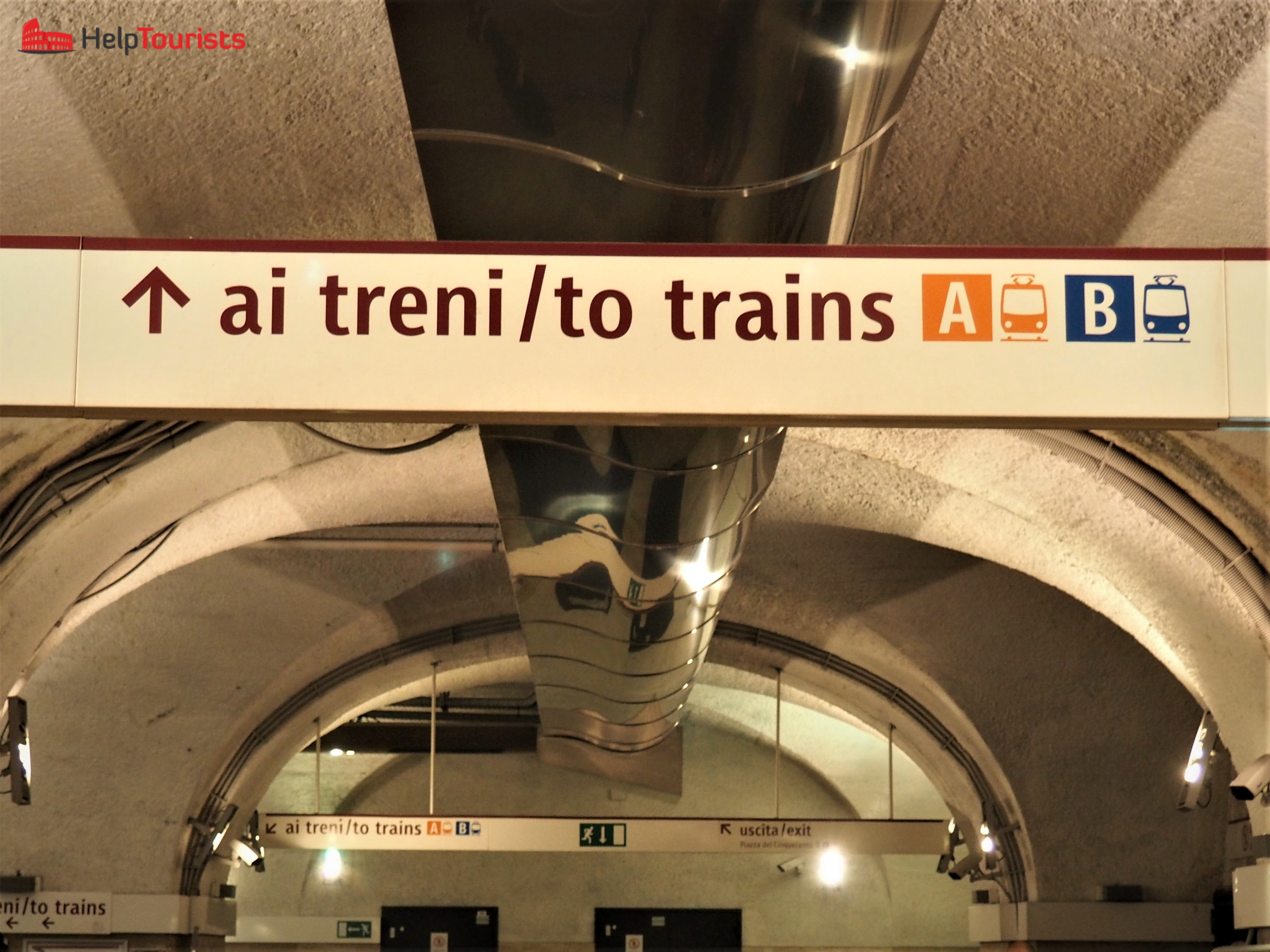 Rome central station Termini sign