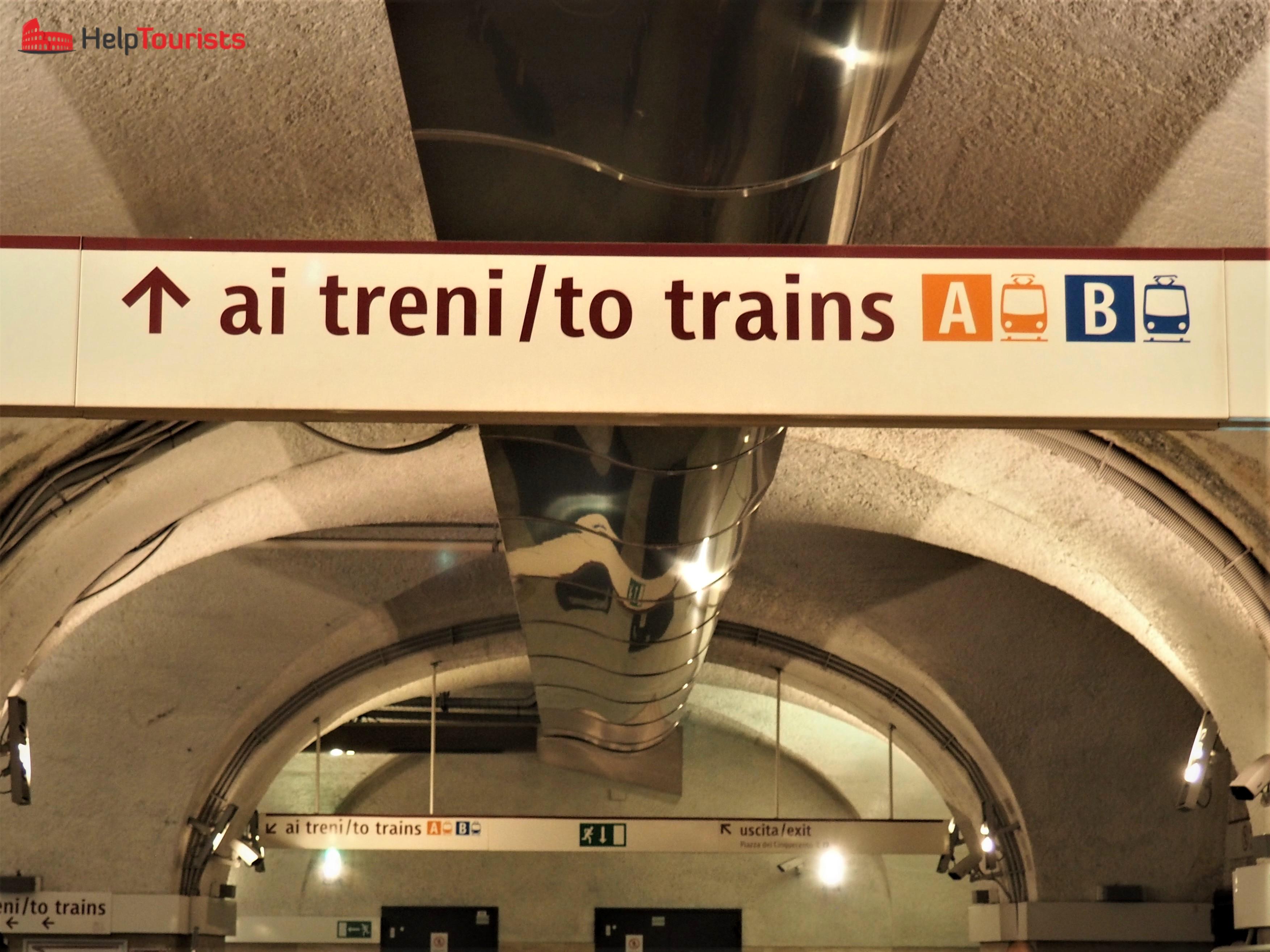 Rom Hauptbahnhof Termini Schild