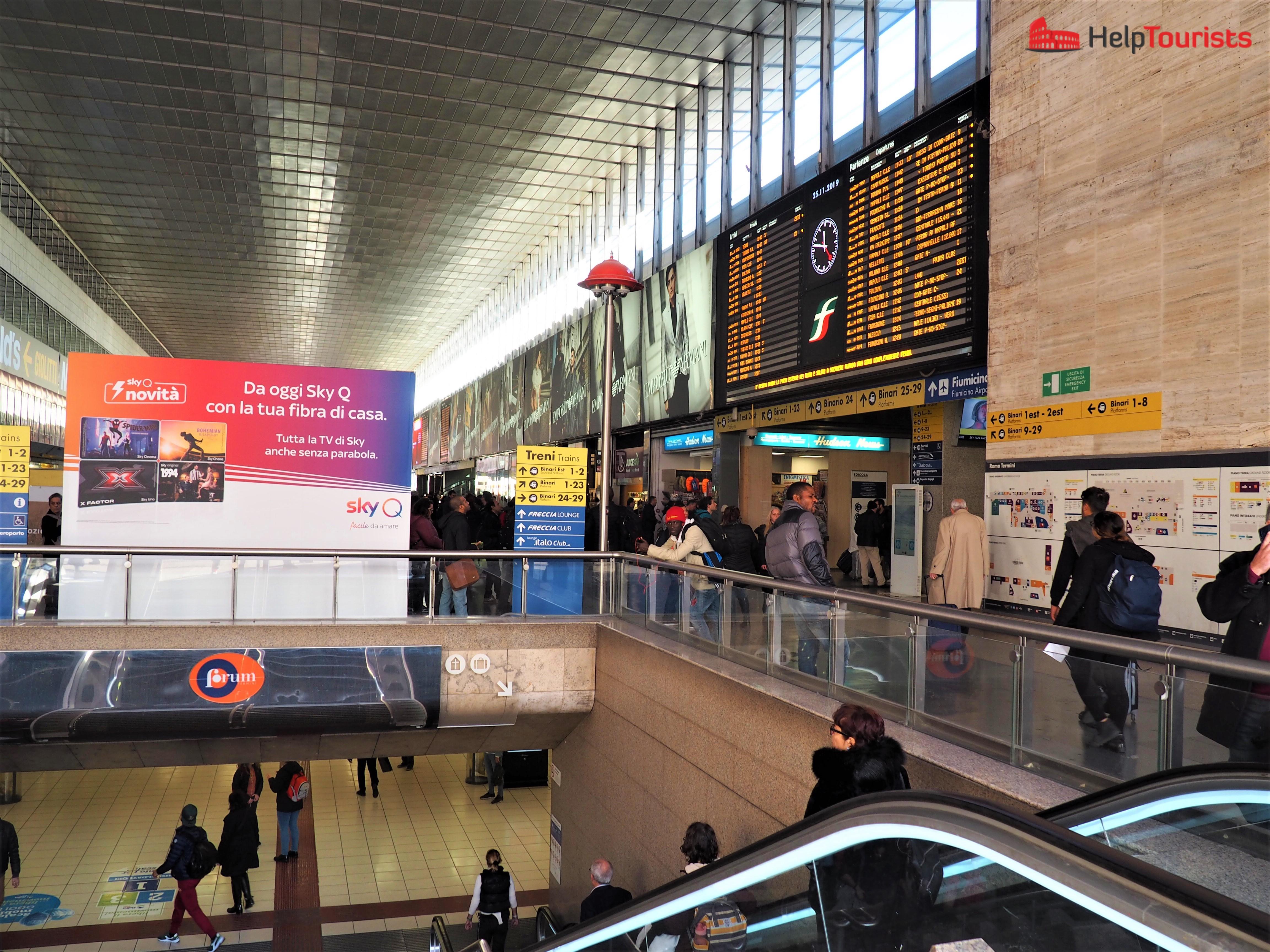 Rome central station Termini entire