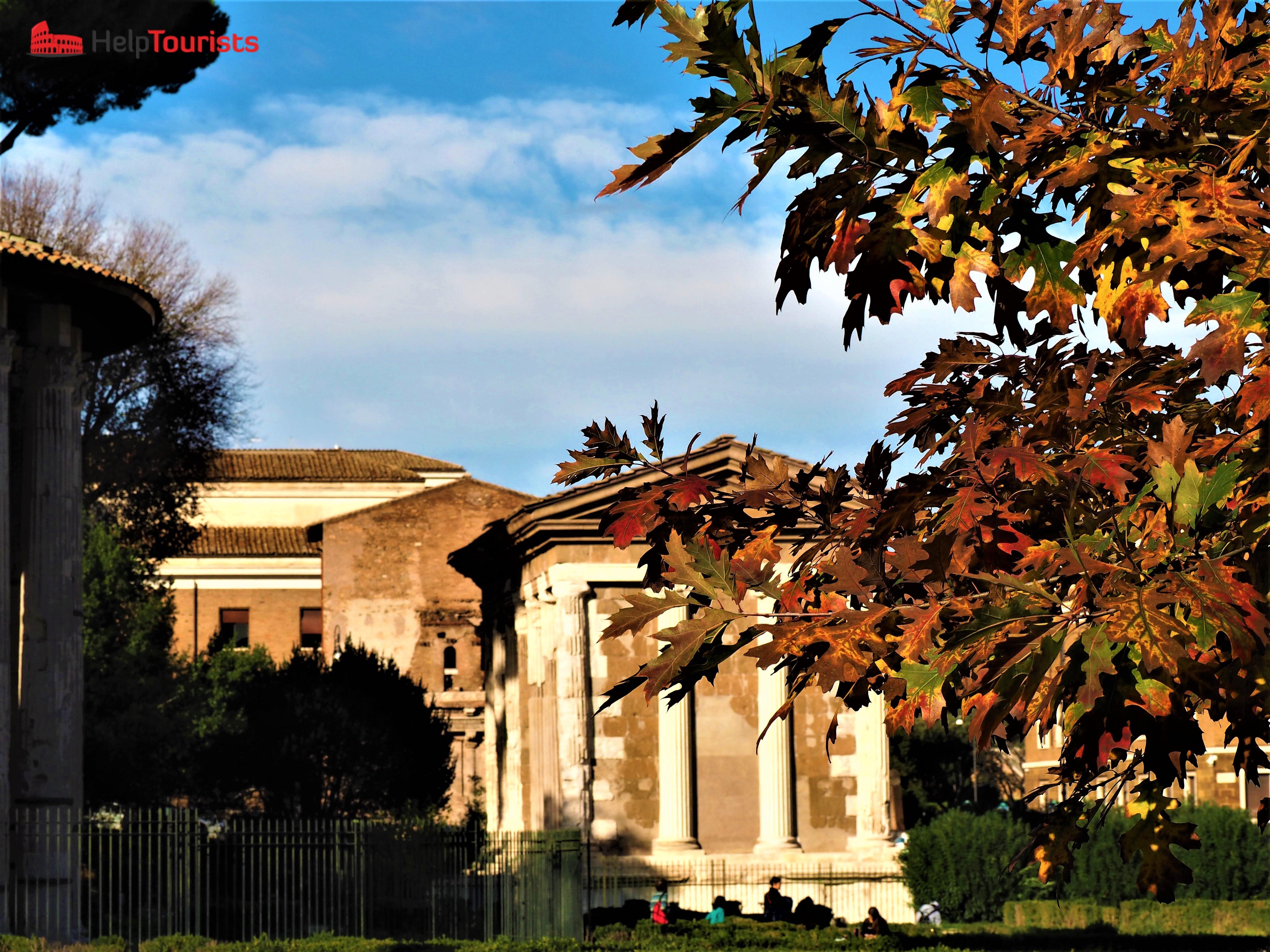 Rom Herbst Ruine