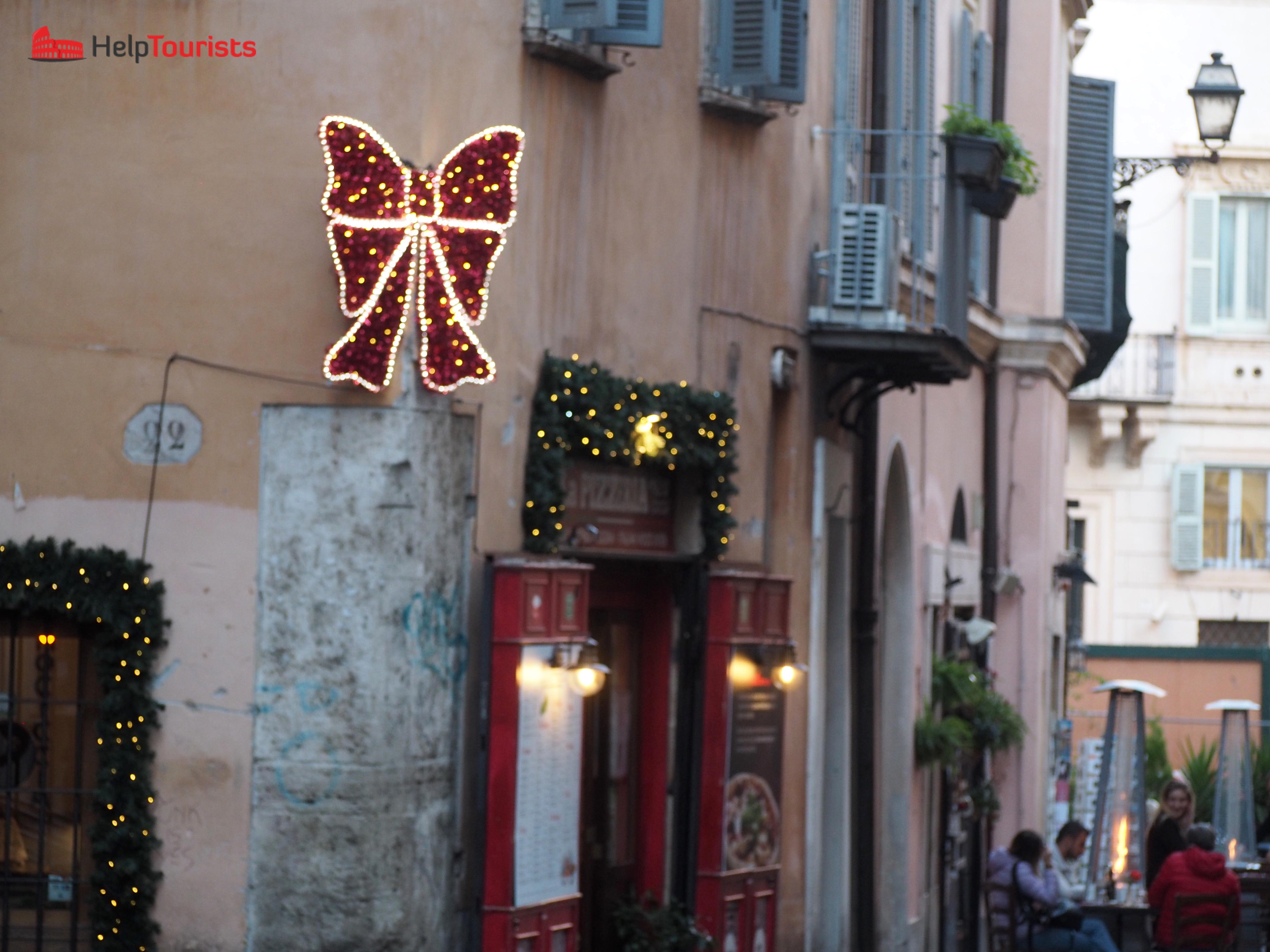 Rome christmas Winter bow