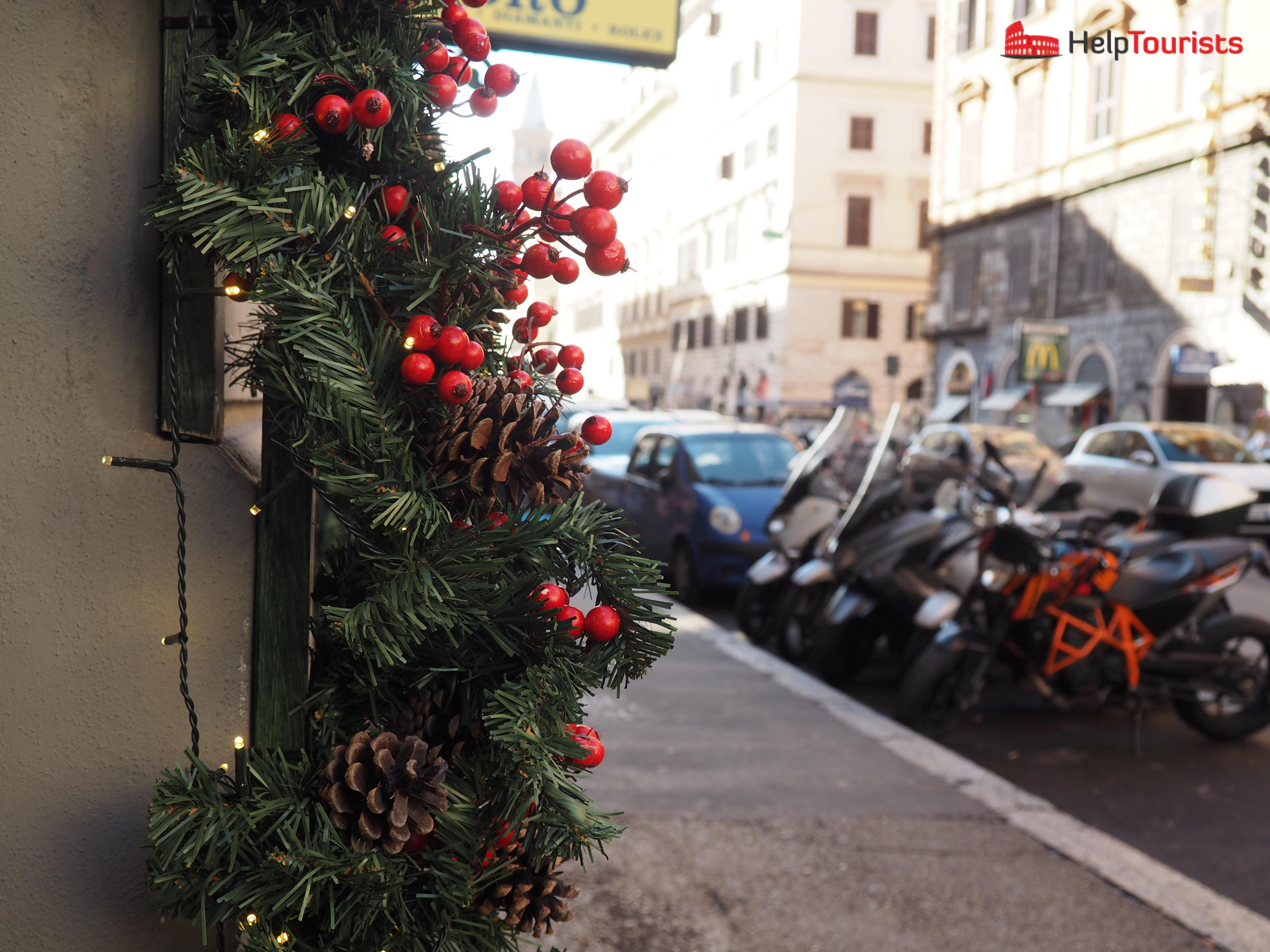 Rom Winter Beleuchtung Weihnachten