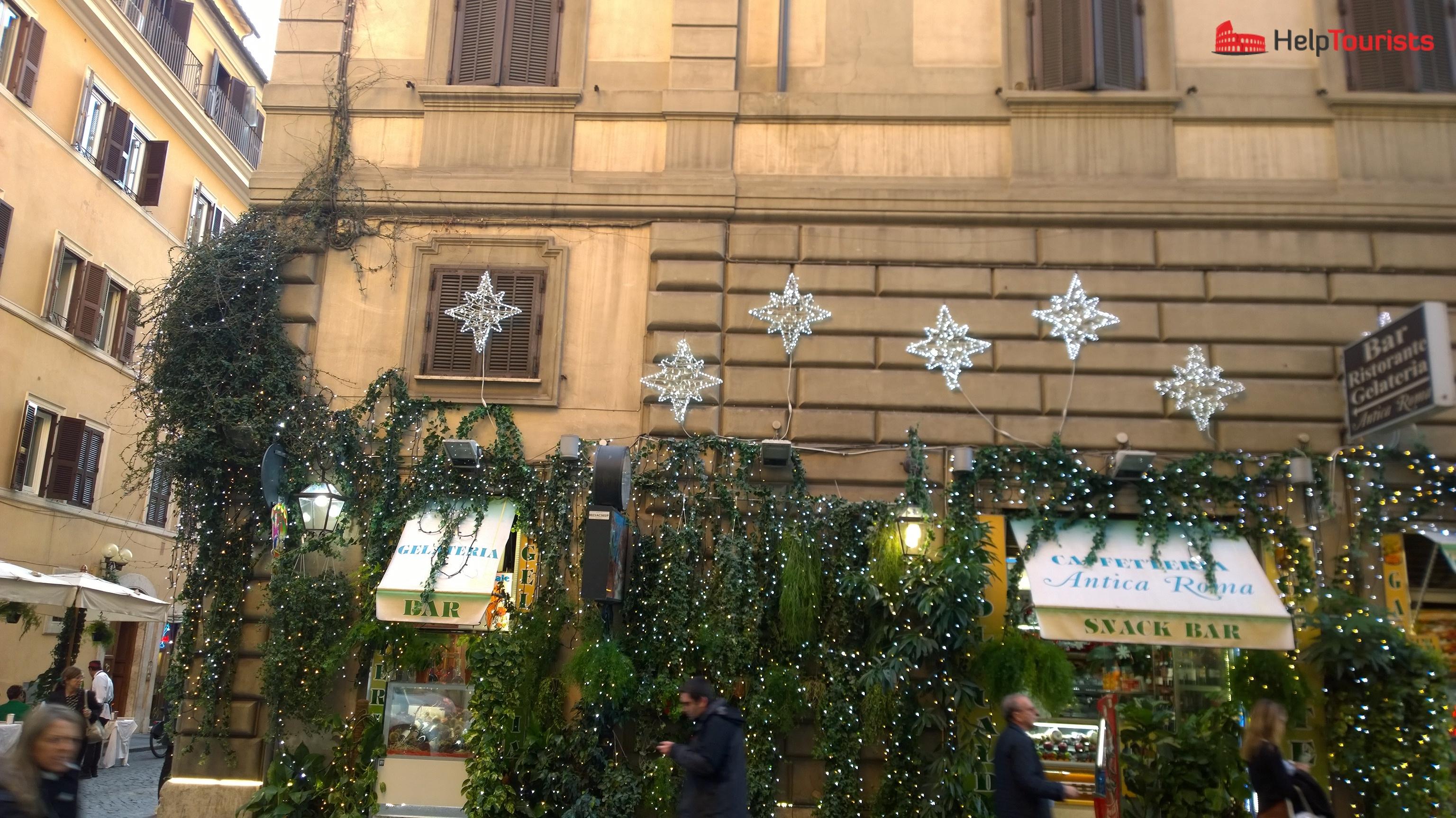 Rom Winter Weihnachten Sterne