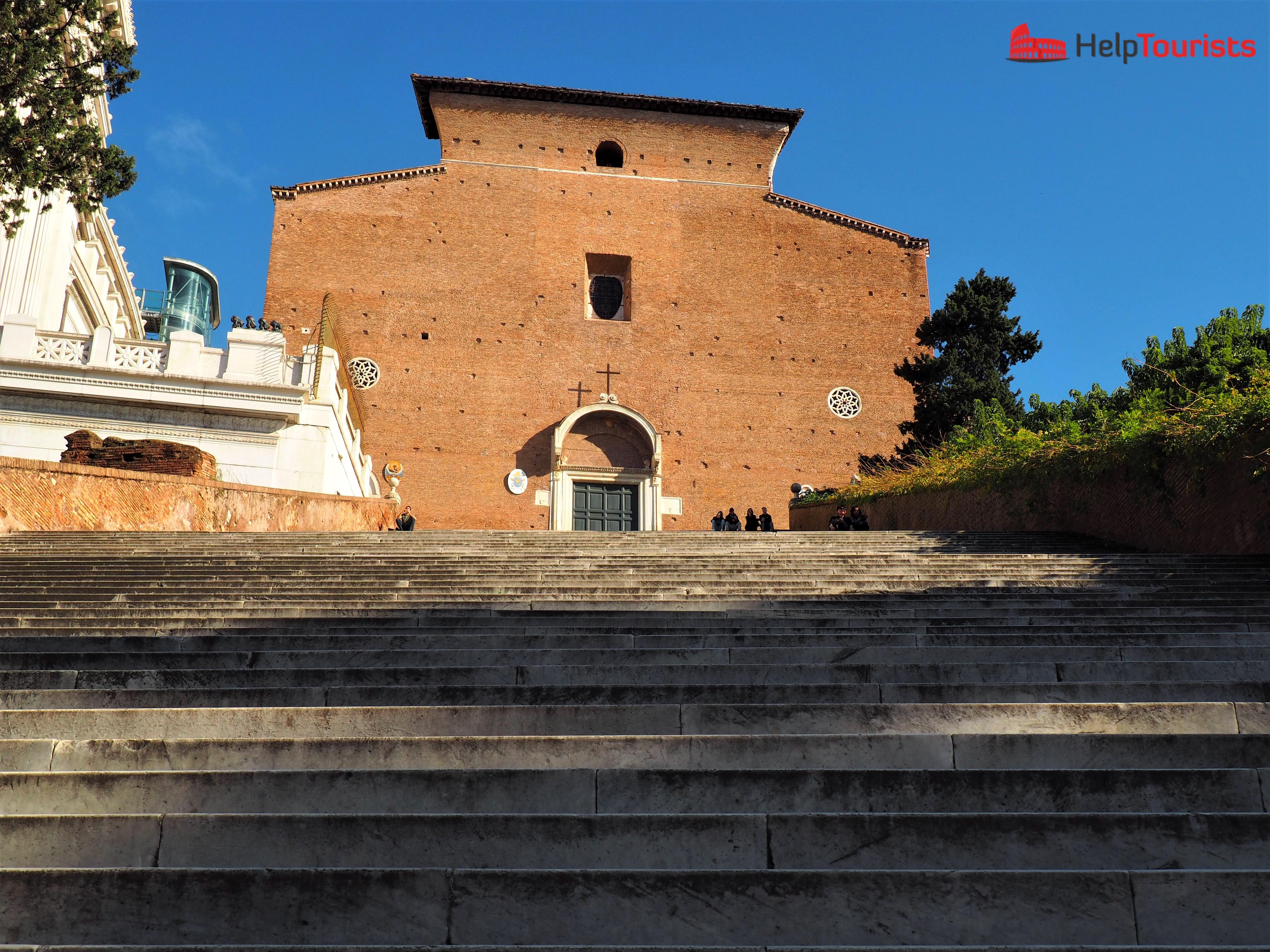 Rome 7 hills capitol St Maria in Aracoeli