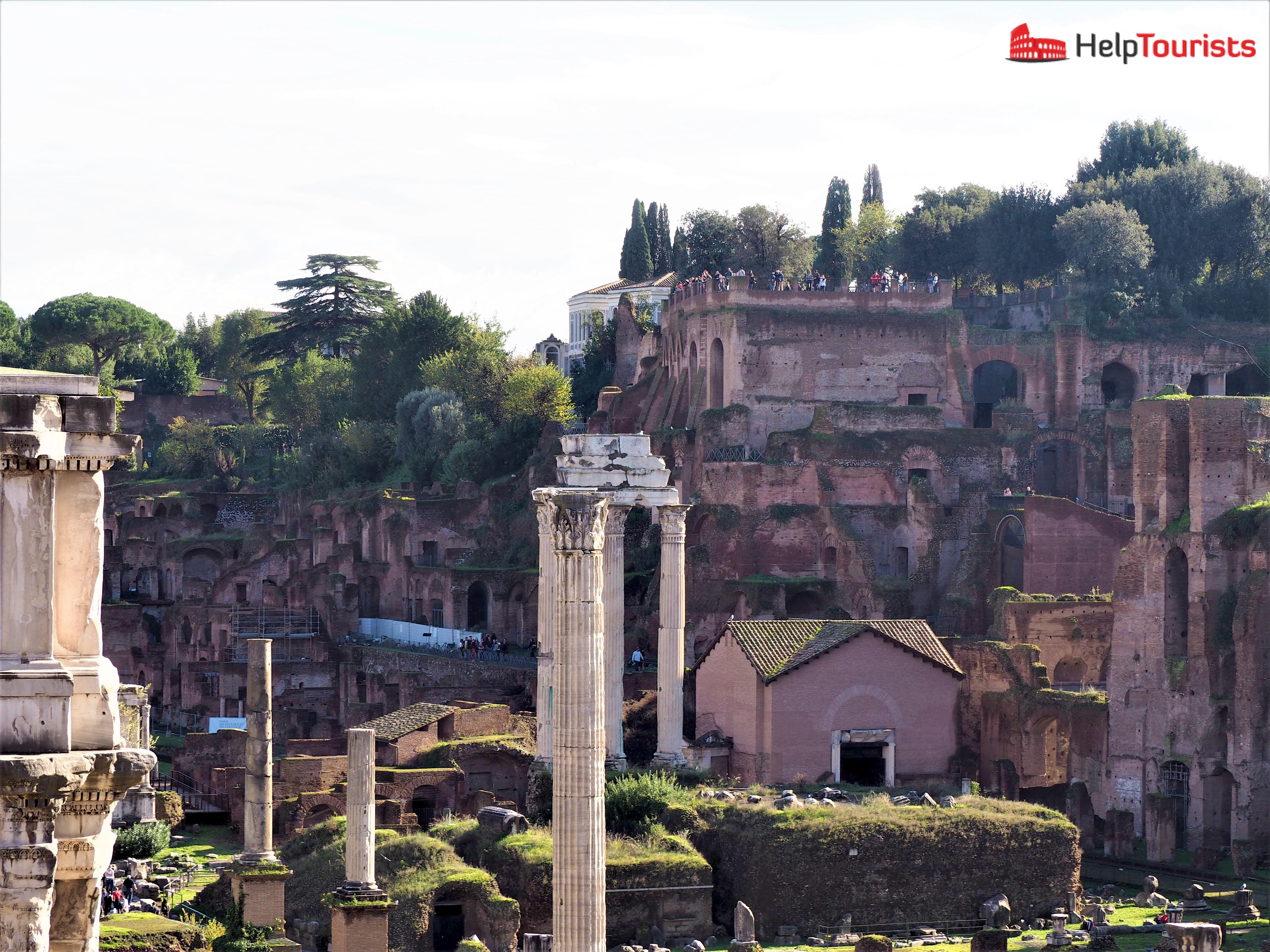 Rom 7 Hügel Palatin vom Kap. aus