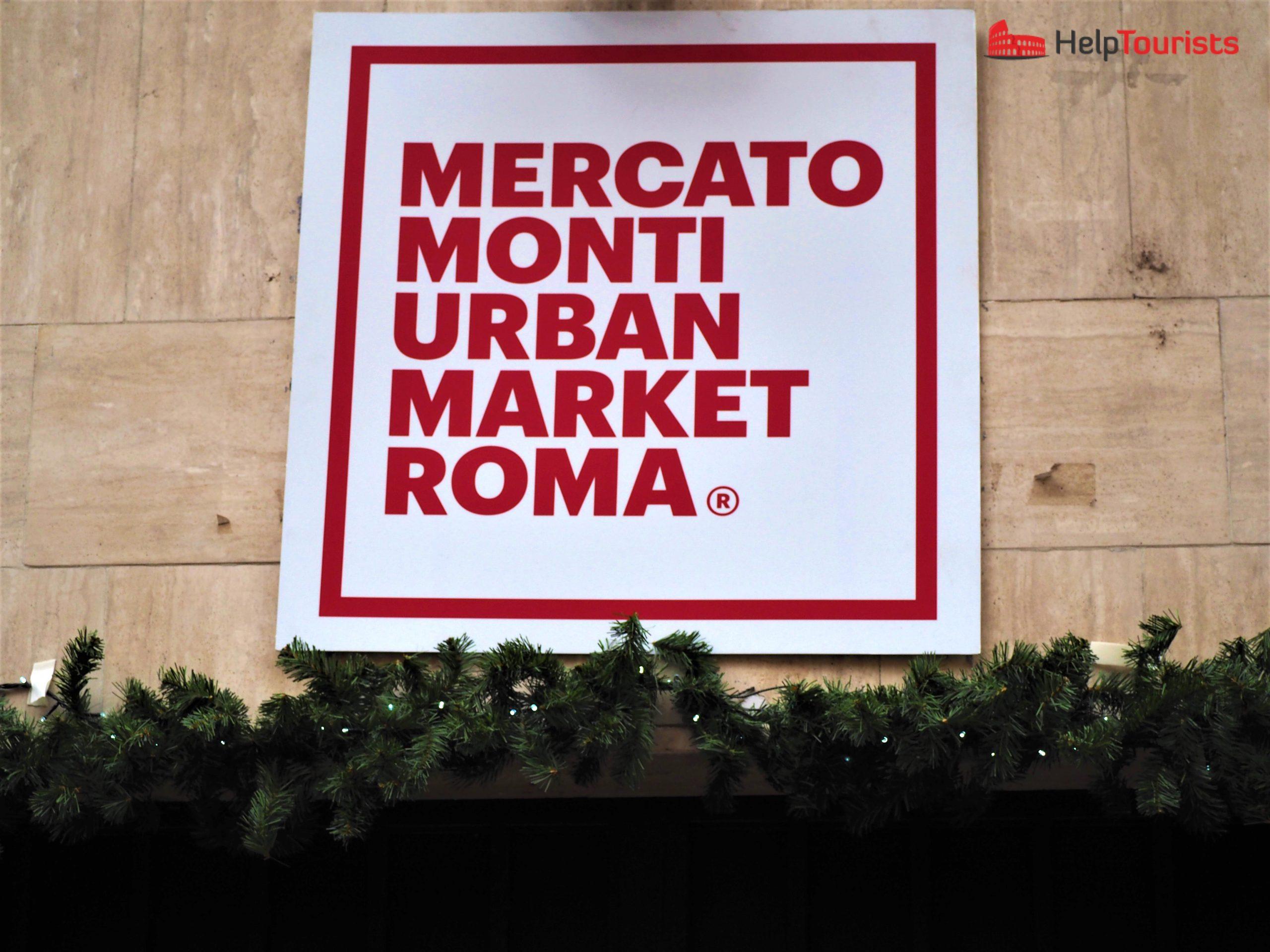 Rom Weihnachtsmarkt Mercato Monti