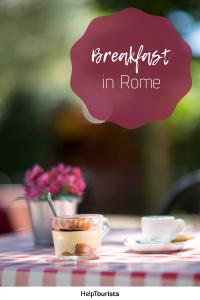Pin Breakfast in Rome