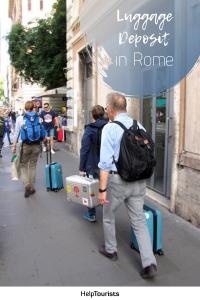 Pin Luggage Deposit in Rome