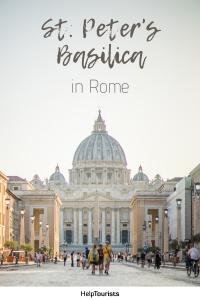 Pin St. Peter's Basilica in Rome
