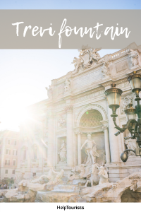 Pin Trevi fountain in Rome