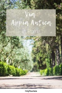 Pin Via Appia Antica in Rome